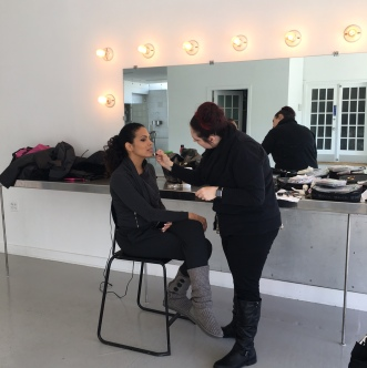 Kai in makeup